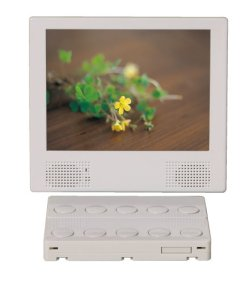 画像1: 店舗用電子POP8インチダイレクトボタンモニター(CF/SDカード対応・USB→CFカードコピー機能)