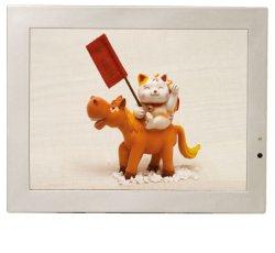 画像1: 店舗用電子POP10.4インチタッチパネルモニター(CF/SDカード対応)